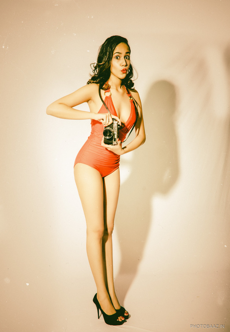retro swimsuit editorial