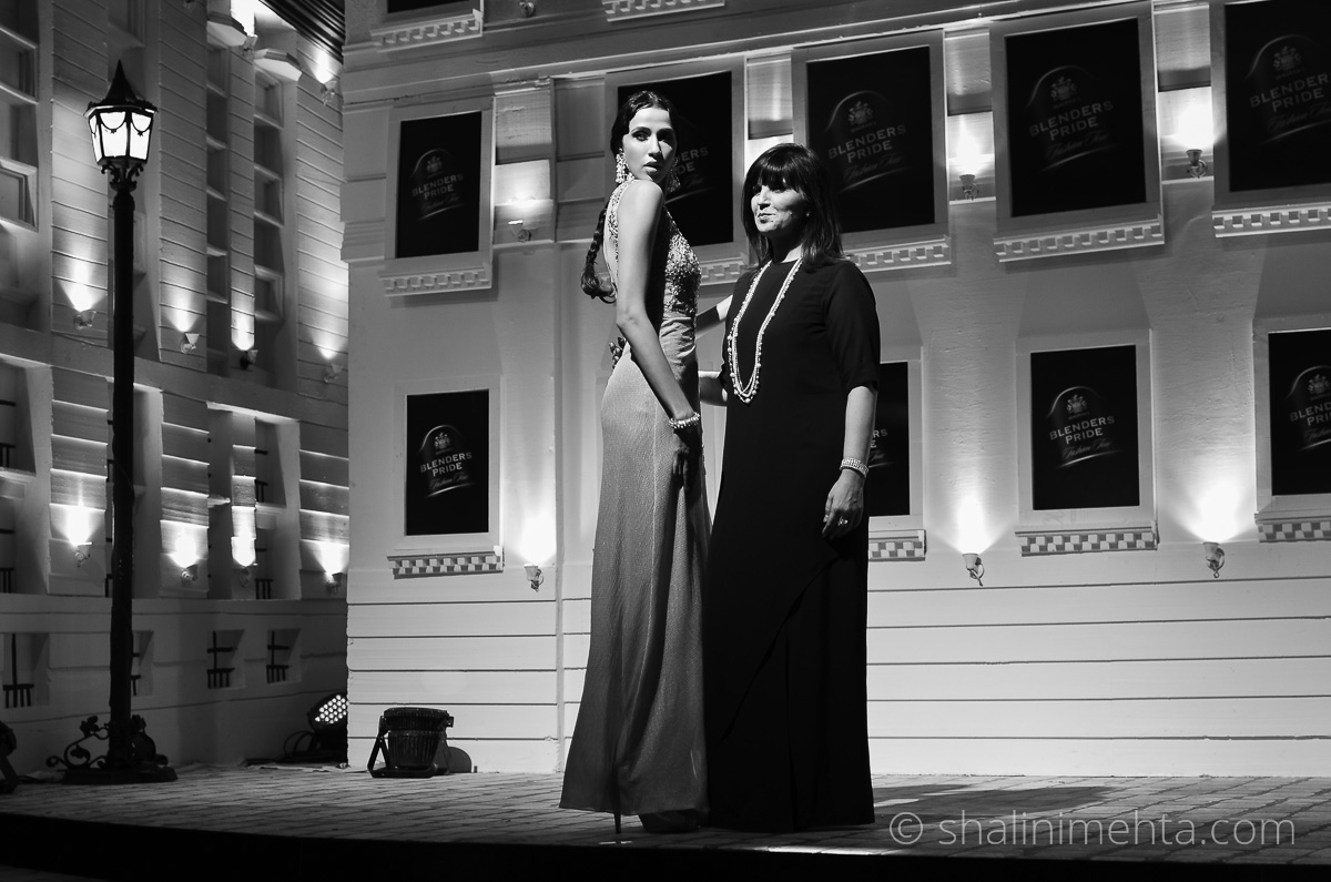 Designer Neeta Lulla showcases at the Blenders Pride Fashion Tour 2014 preview in Mumbai