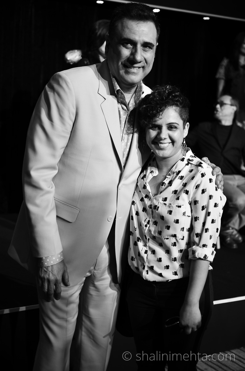 Stylist & Blogger Shalini Mehta poses with actor Boman Irani at Blenders Pride Fashion Tour 2014 preview in Mumbai