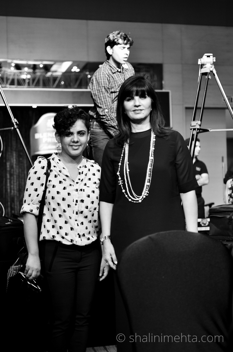 Stylist & Blogger Shalini Mehta with designer Neeta Lulla at Blenders Pride Fashion Tour 2014 preview