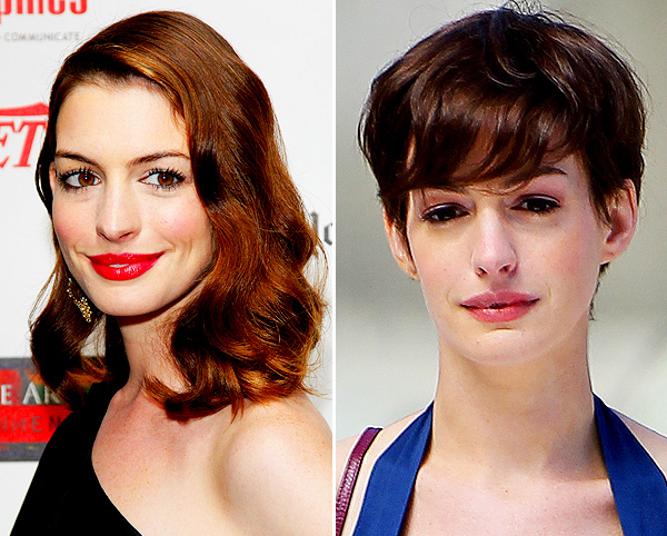 Anne Hathway hair transformation