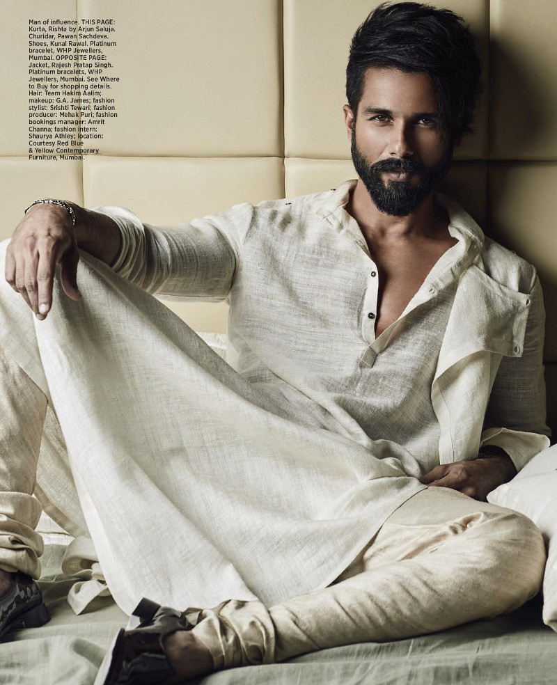 Shahid Kapoor on HIS issue of Bazaar Bride