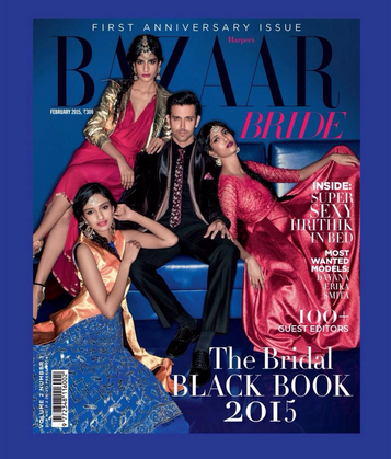 Hrithik Roshan on the covers of HARPER'S BAZAAR BRIDE 1st Anniversary special issue