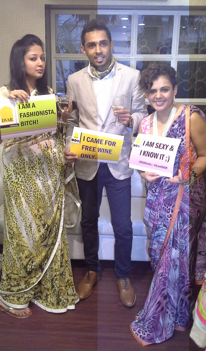 Shalini Mehta fashion stylist & blogger with Vijayta Gandhi and Parth Sangvi, the co-founders at DVAR