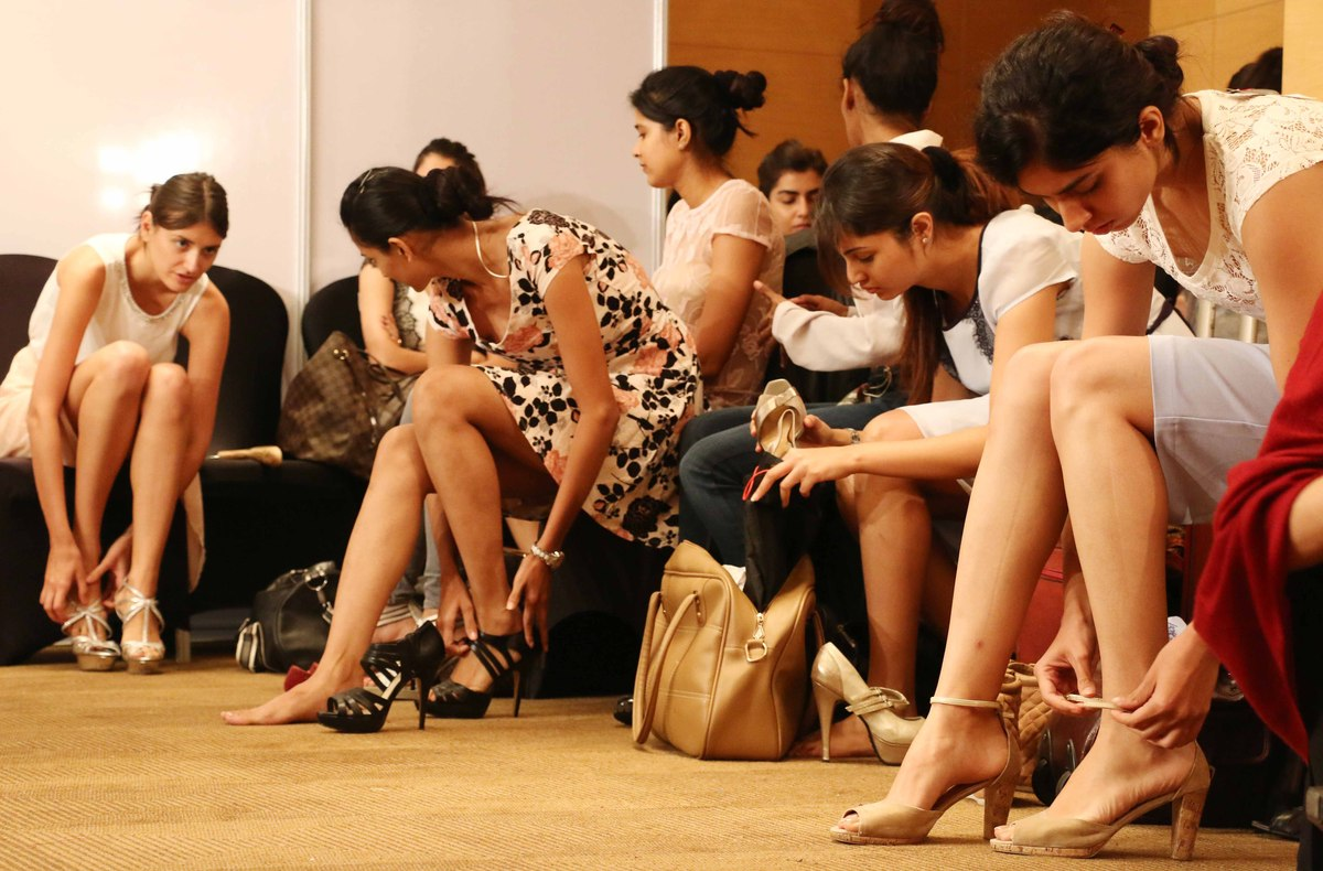 Models at the Jabong fashion fittings