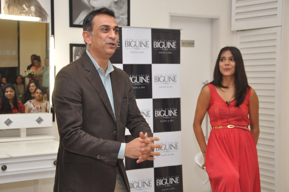 Samir Srivastav (CEO, JCB Salon) and Juhi Pande