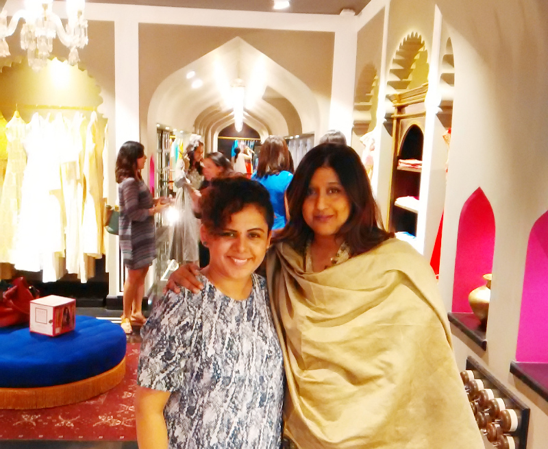 stylist & blogger shalini mehta with priya tanna vogue india editor