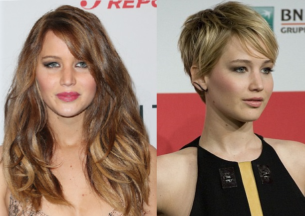 Jennifer Lawrence hair transformation