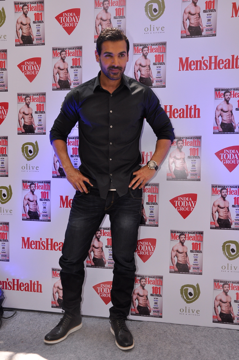John Abraham Unveiled Men's Health March 2015 Cover
