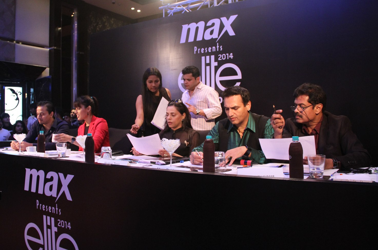 Judges at work at MAX presents Elite Model Look India 2014