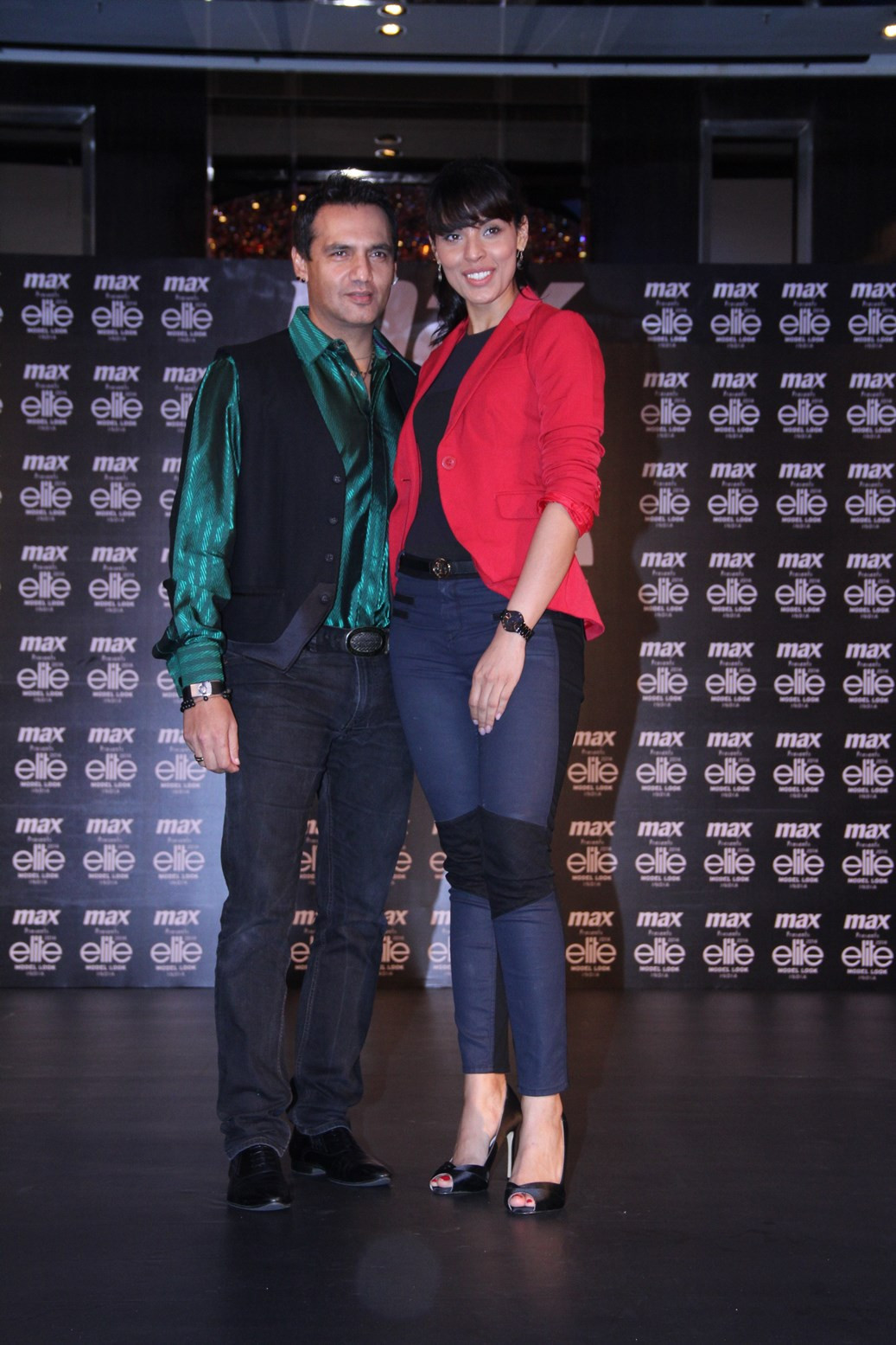 Marc Robinson, Dipti Gujral at 'National Casting' for MAX presents Elite Model Look India 2014