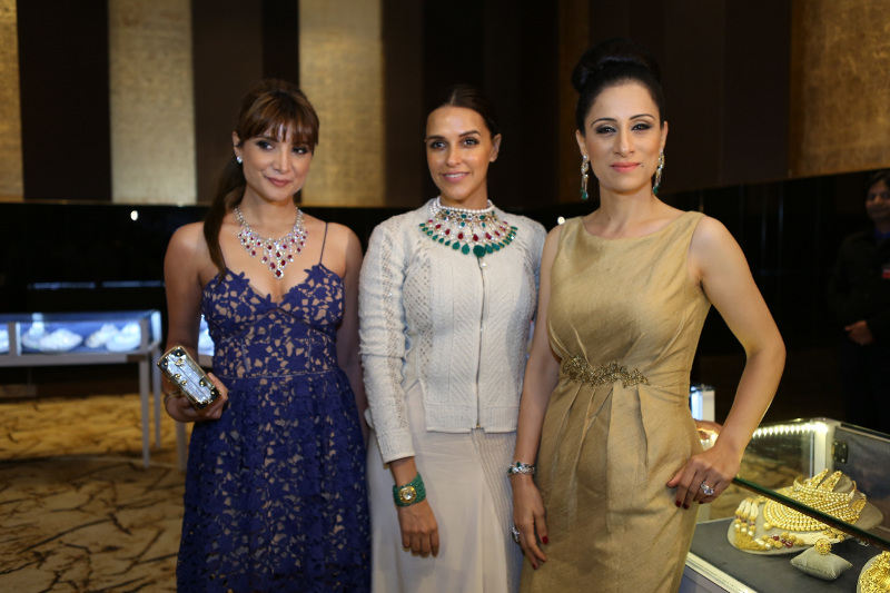 Michelle Poonawalla, Neha Dhupia & Rouble Nagi at the Grand Jury Meet of the 11th Annual Gemfields and Nazraana Retail Jeweller India Awards 2015