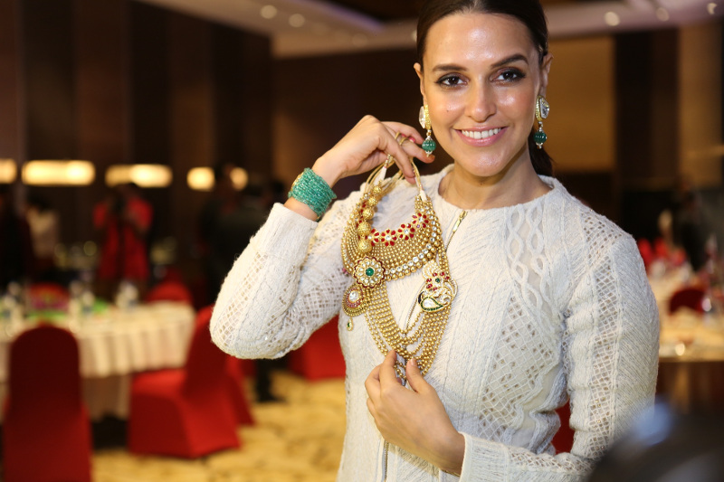 Neha Dhupia at the Grand Jury Meet of the 11th Annual Gemfields and Nazraana Retail Jeweller India Awards 2015....
