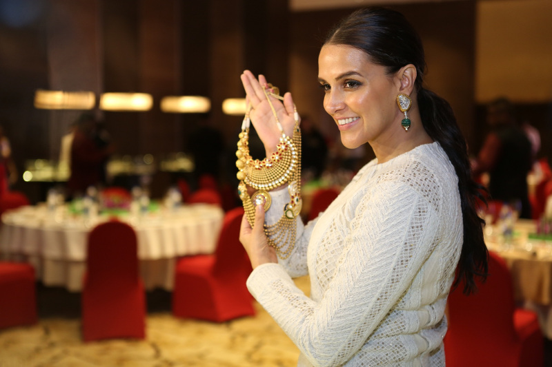 Neha Dhupia at the Grand Jury Meet of the 11th Annual Gemfields and Nazraana Retail Jeweller India Awards 2015...