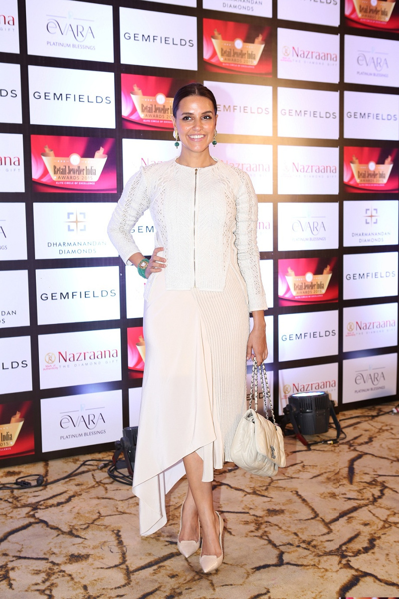 Neha Dhupia at the Grand Jury Meet of the 11th Annual Gemfields and Nazraana Retail Jeweller India Awards 2015..