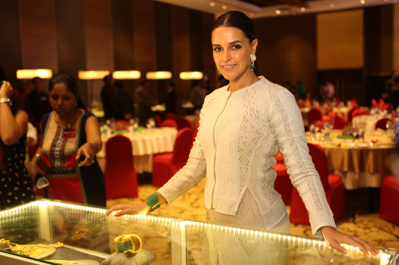 Neha Dhupia at the Grand Jury Meet of the 11th Annual Gemfields and Nazraana Retail Jeweller India Awards 2015.