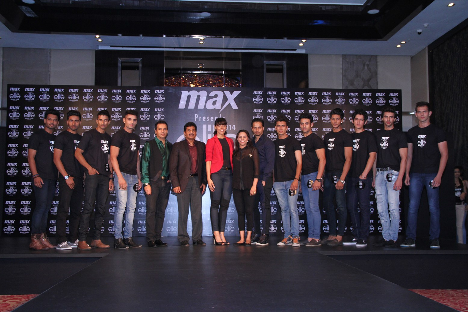 Final 10 boys with the judges at MAX presents Elite Model Look India 2014