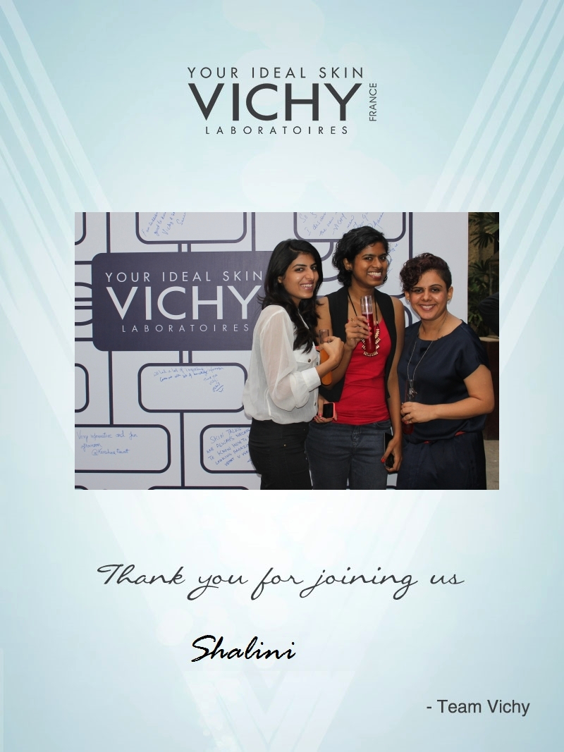 Shalini Mehta, fashion stylist & blogger at the Vichy Beauty Meet 2014 in Mumbai