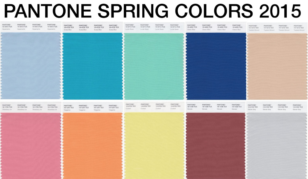 Pantone colors for spring summer 2015