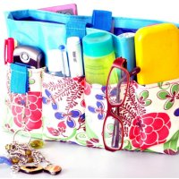 Declutter your bags and organize the contents using products from Organice