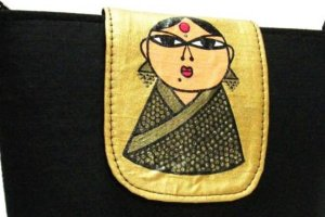 Hand-painted bags and home decor accessories