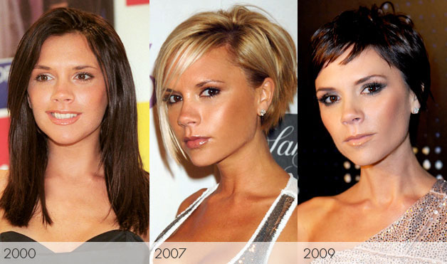 Victoria Beckham hair transformation