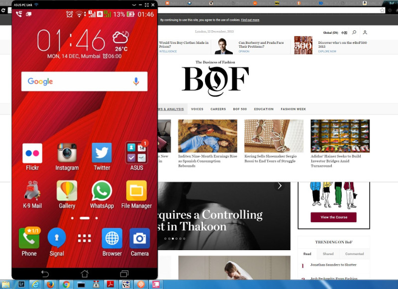 PC Link App in Asus Zenfone 2 Laser